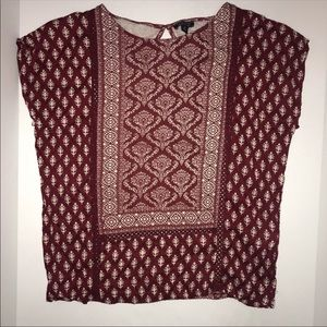 Lucky Brand printed design sleeveless top